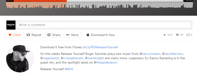 ROGER SANCHEZ PLAYS UCH FEAT LARISA IN HIS Release Yourself Radio Show #804