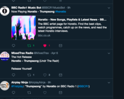 PETE TONG PLAYS HORATIO – TRUMPSONG